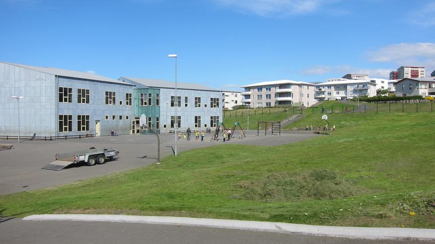 Hugmynd af íbúafundi í Fífuhvammi. Skólalóð Salaskóla.