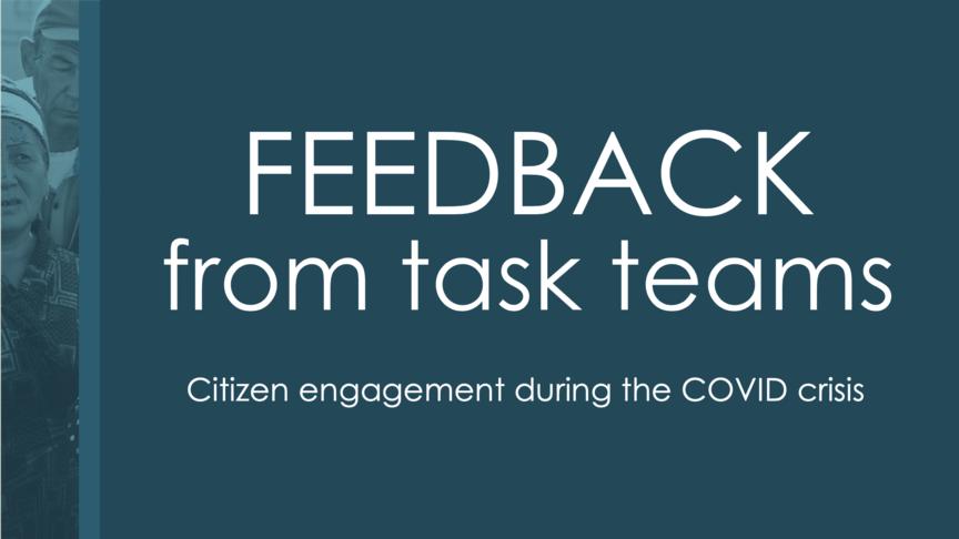Task Team Feedback
