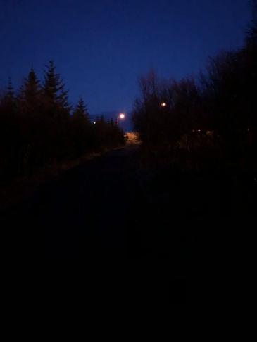 Lýsing á göngustíg milli Norðlingaholts og Elliðaárdals
