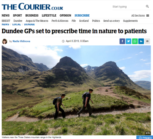 Prescribing nature and physical activity for wellbeing