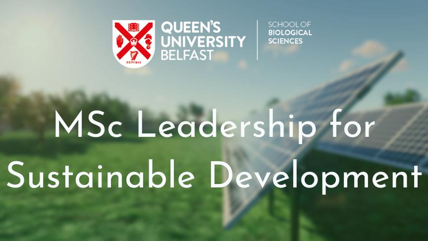 MSc Leadership for Sustainable Development