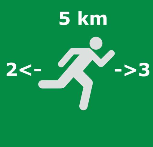 Öruggar hlaupaleiðir 1-10 km