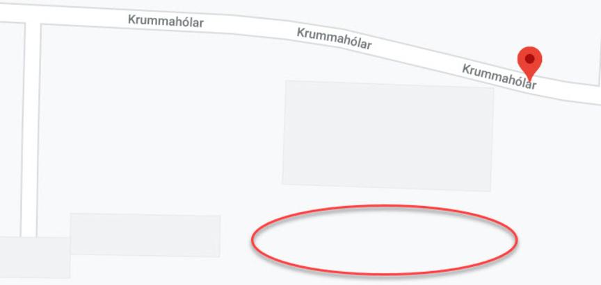 Áningarstað á milli Krummahóla og Suðurhóla