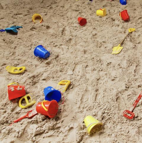 Sandpit in Victoria Park
