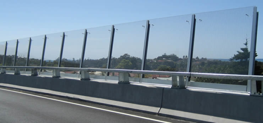 Glass road sound barriers