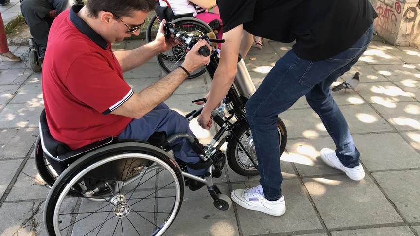 Drop off point για τα Scooter για τα αναπηρικά καροτσάκια