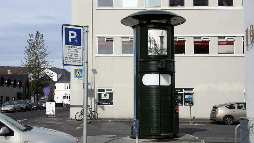 Útiklósettaðstaða við útivistarsvæði Gufunesbæjar