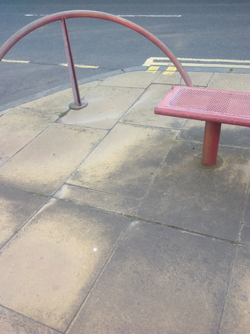 Cowdenbeath - Parking on Pavements in the High Street
