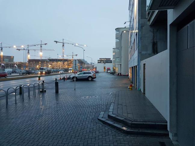 Grænt svæði/borgargarður við Geirsgötu
