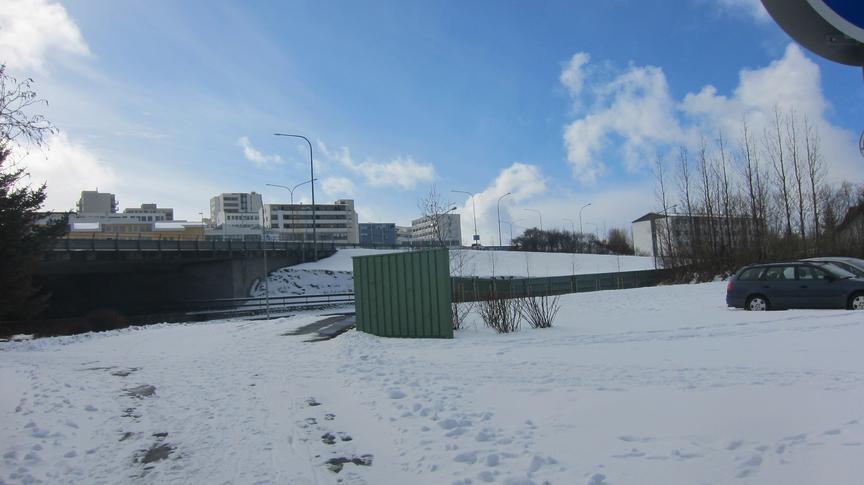 Hugmynd af íbúafundi á Kársnesi. Umferðarhávaði.