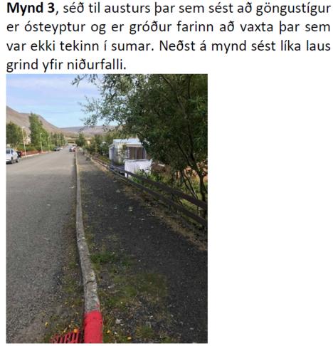 Gangstétt og niðurföll á Brunnum
