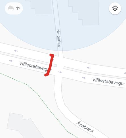 Gangbraut/gangbrautarljós við Vífilsstaðarveg