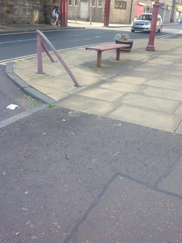Cowdenbeath - Bollards/Seating in the High Street -