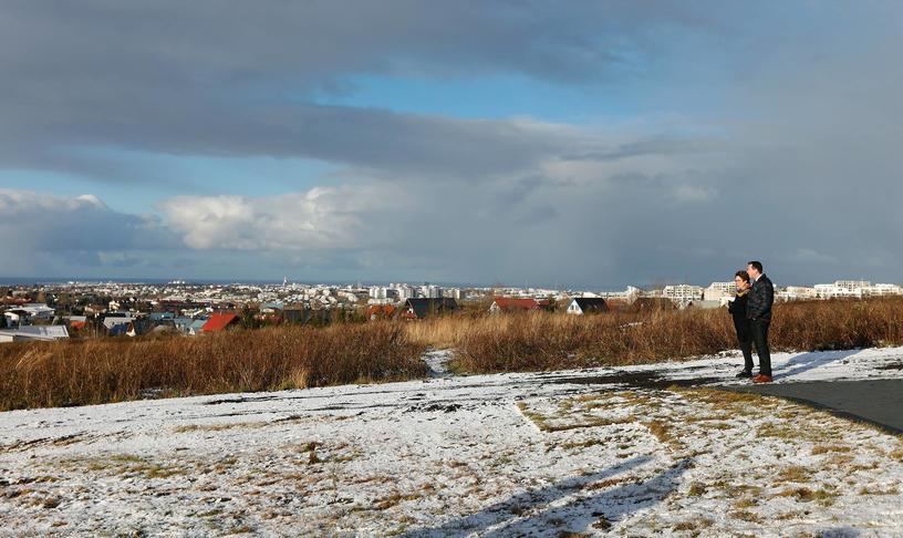 Malbika stíg við áninga- og útsýnisstað í Kórunum.