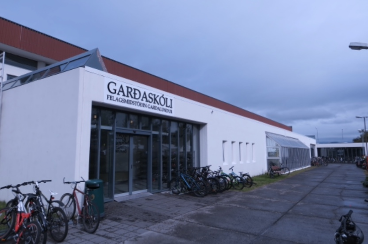 Öryggismyndavélar við Garðaskóla