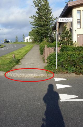Aflíðandi kantur við Fjarðarás