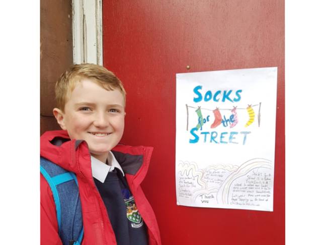 Socks for the Street - Leith Cares packs £4,000