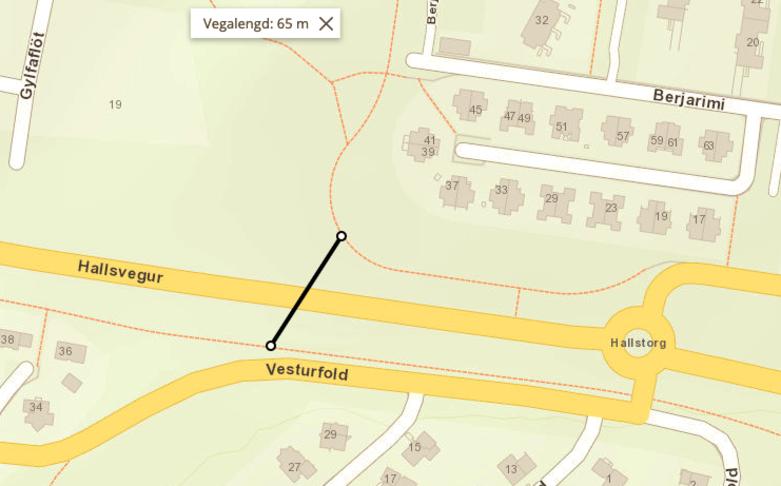 Undirgöng ofan við Gylfaflöt úr Rimahverfi yfir í Vesturfold