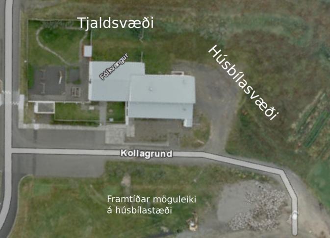 Upplýsingamiðstöð og tjaldsvæði við Fólkvang