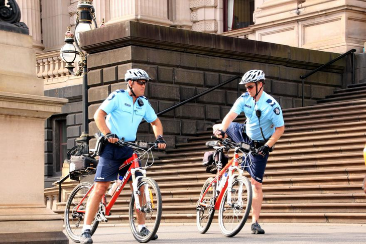 Put police on bicycles