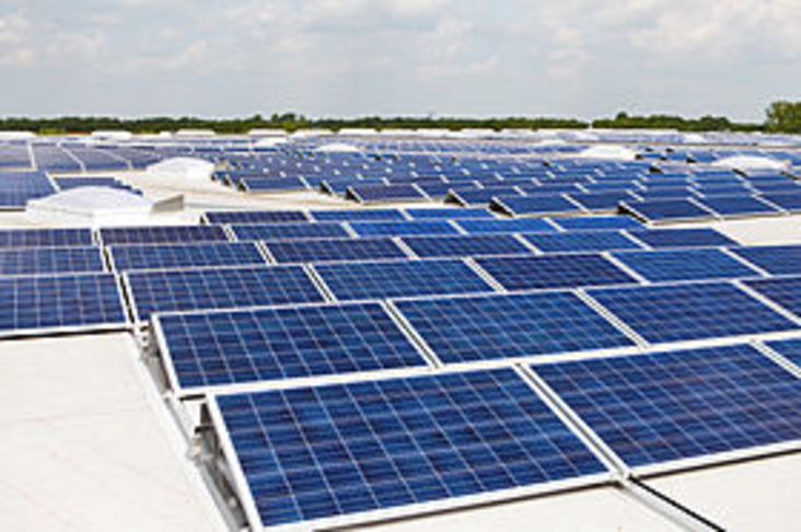 Solar panels on government office roofs