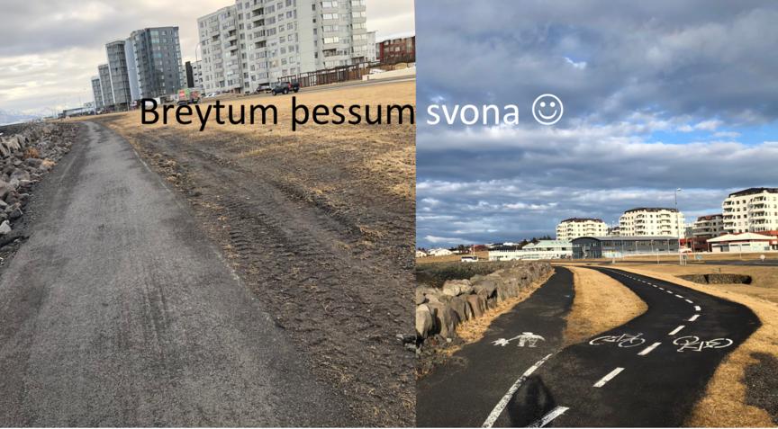 Hjólastíg við Eiðisvík
