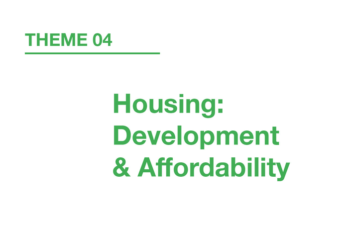 Housing: Development & Affordability