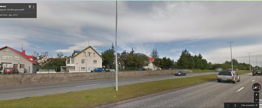 Hljóð og mengunarmæla þar semSæbraut er næst Barðavogi.