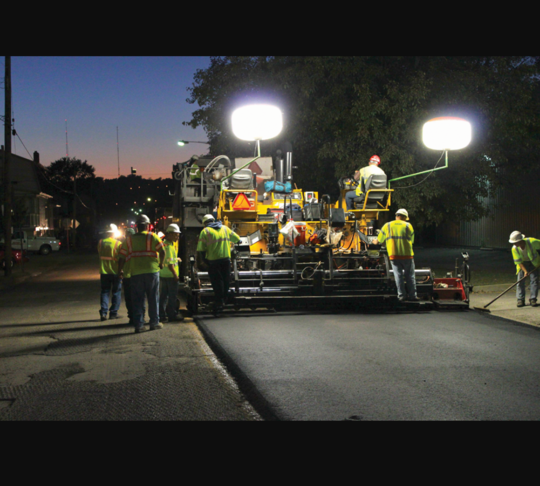NIGHT TIME is for SILENT road construction