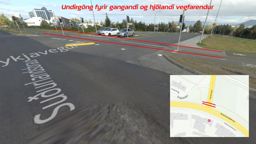 Undirgöng undir Reykjaveg/Suðurlandsbraut