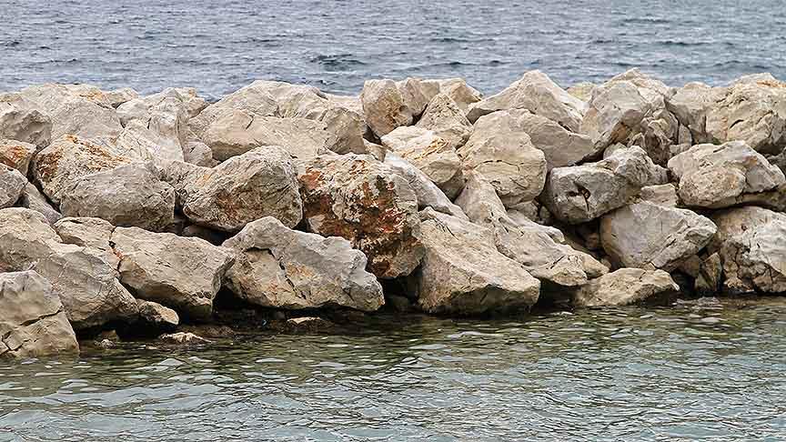 Breakwater in Qrejten Point and Delimara