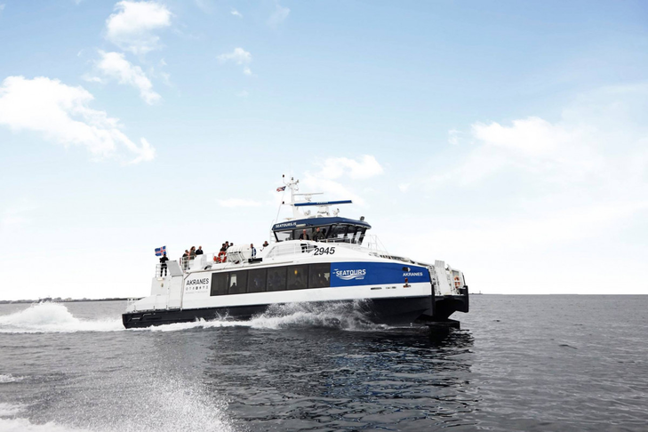 Flotbryggja á Kjalarnesi - viðkomustaður Akranesferju