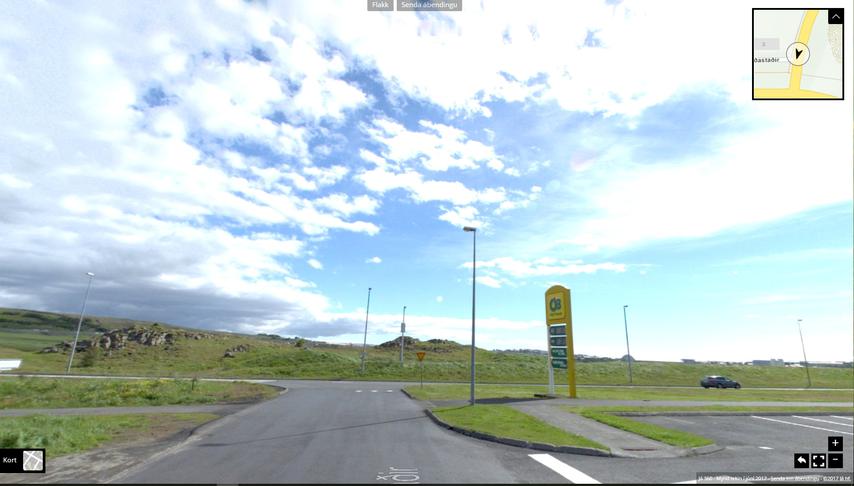 Hringtorg við gatnamót Korpúlfsstaðarvegar og Barðastaða