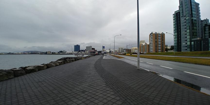 Endurskipuleggja hjólastíg við Sólfarið