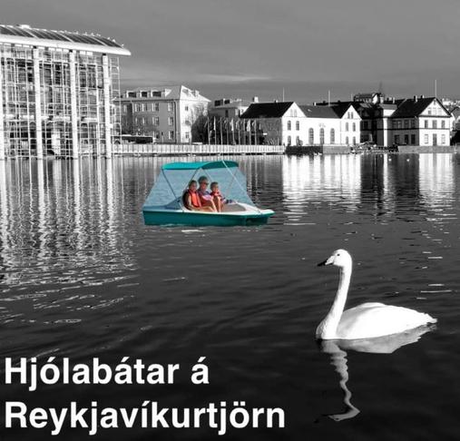 Hjólabátar á Reykjavíkurtjörn