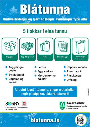Fríar tunnur fyrir pappír á hvert heimili
