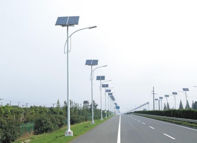 Solar panel street lamps