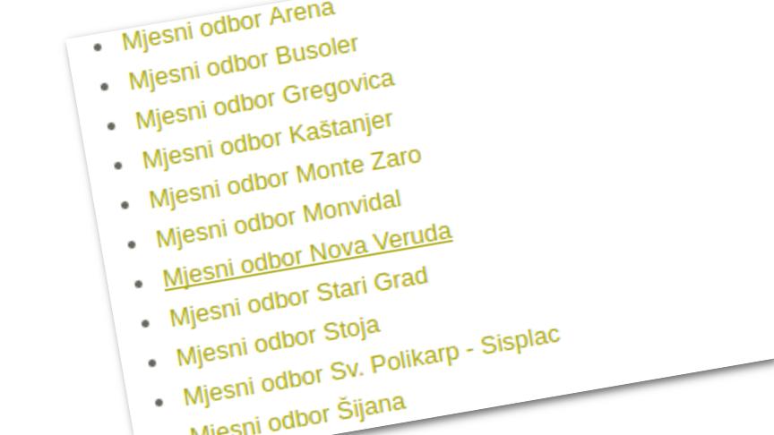 Otvoriti službene internet stranice mjesnih odbora