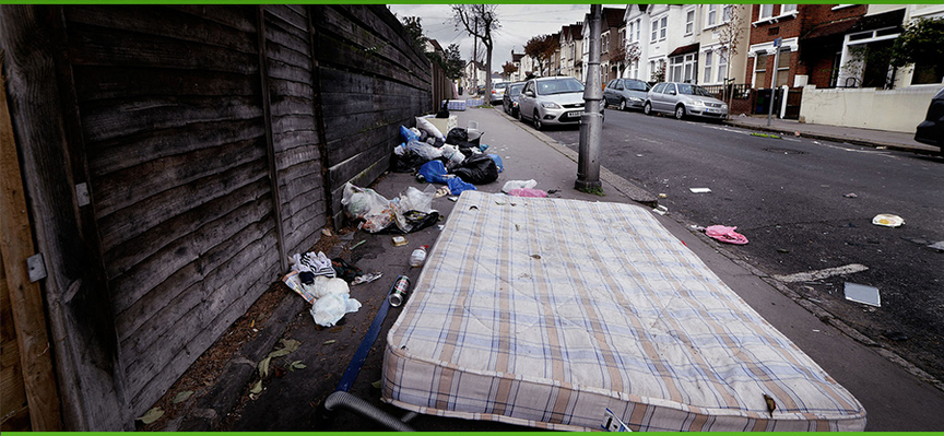 The scourge of rubbish dumping on our streets