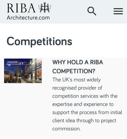 Public design competitions