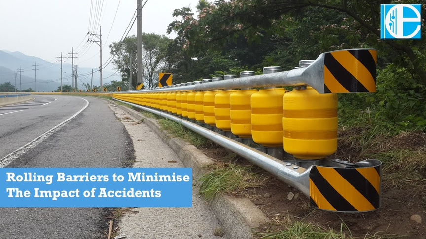 Rolling barriers to minimise the impact of accidents