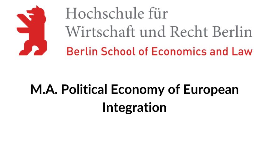 HWR Berlin, M.A. Political Economy of European Integration