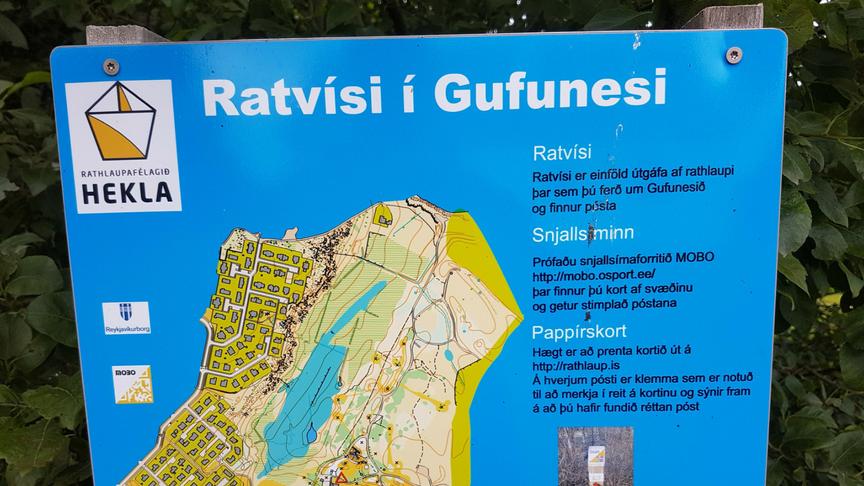 Föst rathlaupabraut á útivistasvæðinu við Reynisvatn
