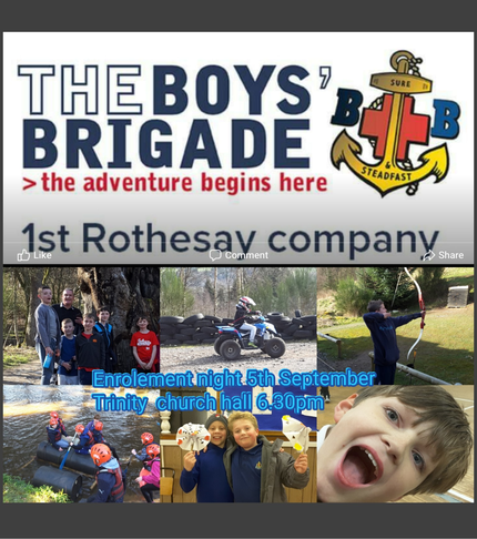 Get Outdoors Be Adventurous – with 1st Rothesay Boys Brigade