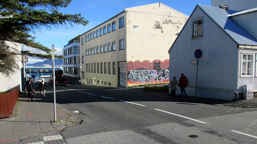 Hraðahindranir á Ægisgötu