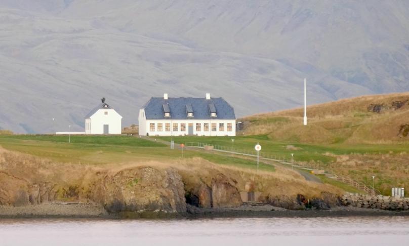 Göngubrú út í Viðey