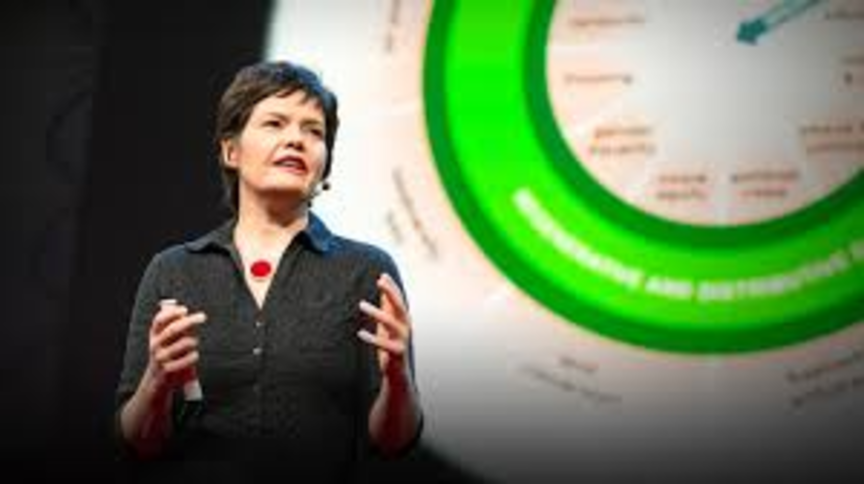 Kate Raworth created 'doughnut economics'