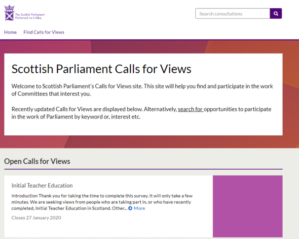 Digital Engagement to support Call for Views