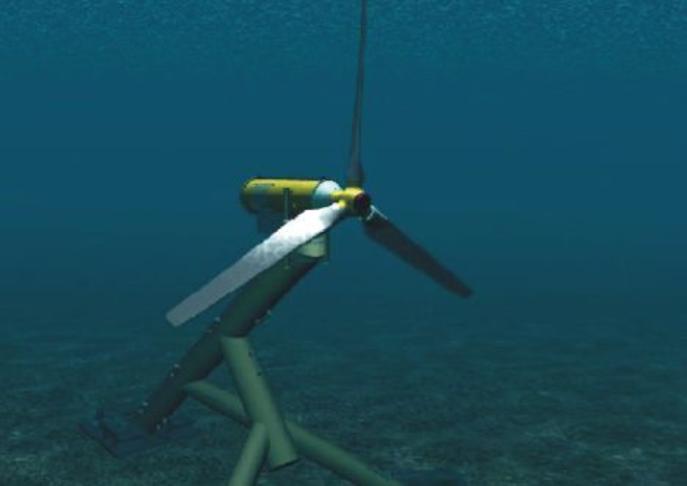 Underwater ocean turbines