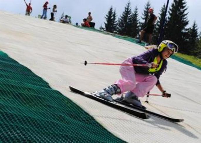 """""""Þurra""""  skíðabrekku í Grafarvogsbrekku - Dry ski slope"""